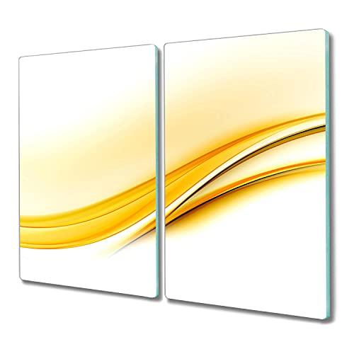 Coloray protector induccion 2x30x52 tabla de cortar madera para cortar tablero de vidrio para la cocina Vidrio Placa de tabla - ondas