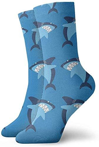 Lustige Socken mit Hai-Motiv, 30 cm lang, Geschenkidee