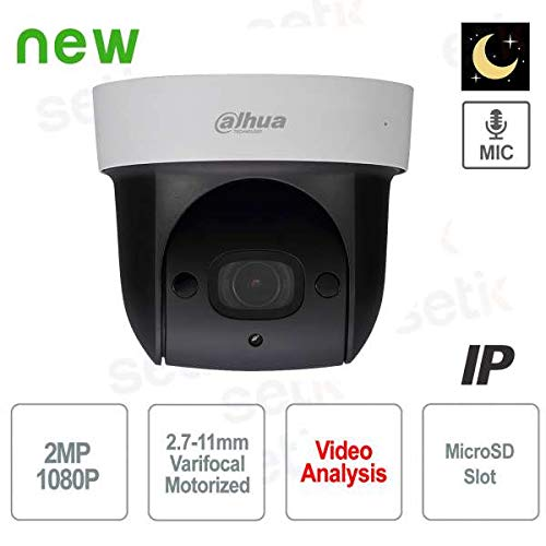 Dahua - ONVIF PoE 2MP Cámara IP Motorizada Starlight WDR Audio Dahua - SD29204UE-GN