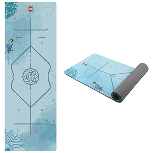 PIDO Yoga Mat 7mm Thick and Long Printed Suede + TPE Fitness Mat Gym 72'X24' Non-Slip Dance Mat (B)