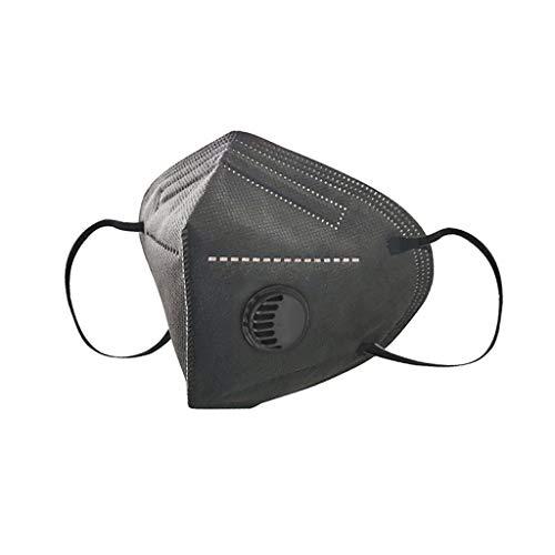 [10 Stück] TOP Schutz inkl. Ventil | Atmung Schutz gegen Staub, Pollen, Abgase, Luftverschmutzung,Visier Bandana Face-Mouth Cover für Camping,Laufen,Radfahren (A)