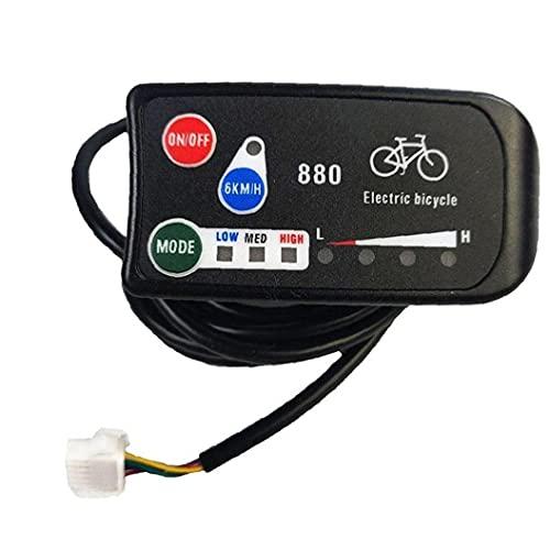 Liadance Pantalla de Bicicleta eléctrica Controlador de Velocidad del Panel LED a Prueba de Agua Kit de Controlador Inteligente para Bicicletas Scooter eléctrico
