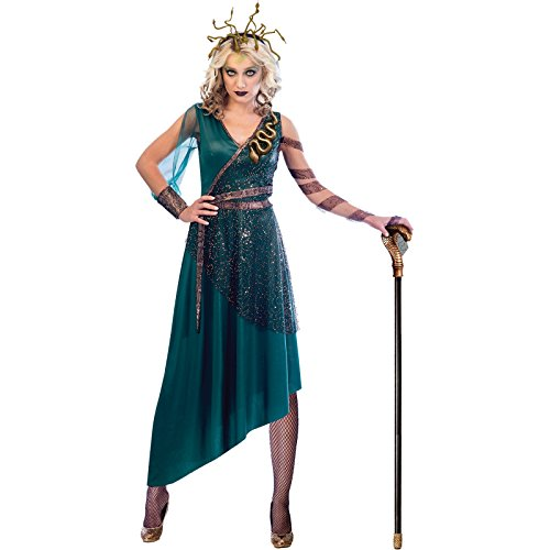 amscan Disfraz de Medusa para Mujer para Adultos Talla de Vestido Grande