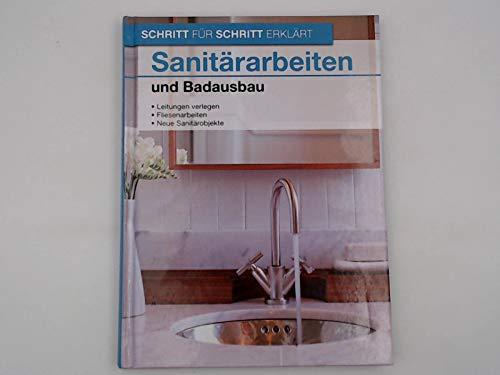 Sanitärarbeiten und Badausbau. Leitungen verlegen, Fliesenarbeiten und neue Sanitärobjekte