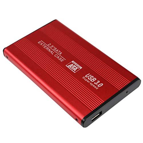 Solustre Disco Duro Externo Móvil Ssd Disco Duro Usb3. 0 Unidades de Estado Sólido de Alta Velocidad para Computadoras de Escritorio Portátiles Y Más (Rojo-1 TB)