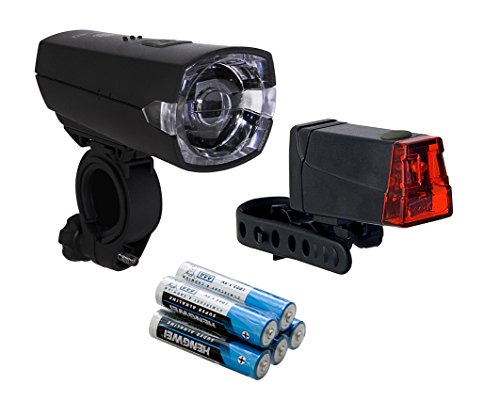 Büchel Batterieleuchtenset, 12 Lux Slim LED Plus Rücklicht, schwarz, 51225420