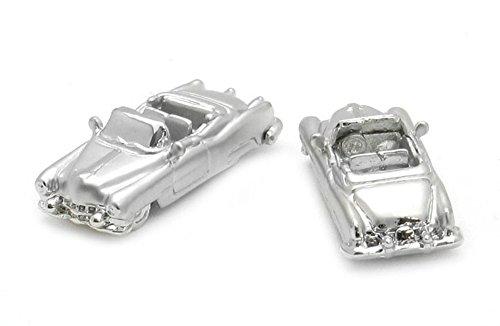 Unbekannt Manschettenknöpfe Sportwagen Cabrio sportliches Auto - Fahrzeug silberfarben + Geschenkbox