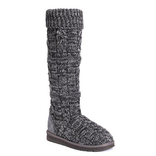 MUK LUKS Damen Women's Shelly Boots-Grey modischer Stiefel, grau, 39 EU