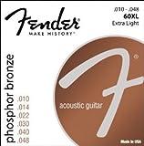 Fender 60XL Jeu de Cordes pour Guitare acoustique