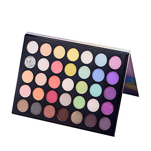 Beauty Glazed 35 Colors Eyeshadow Palette Matte y Shimmer altamente pigmentados Blendable Glamorous Maquillaje Sombra de ojos en polvo duradera en polvo Paleta de cosméticos Pigmento Sombra de ojos