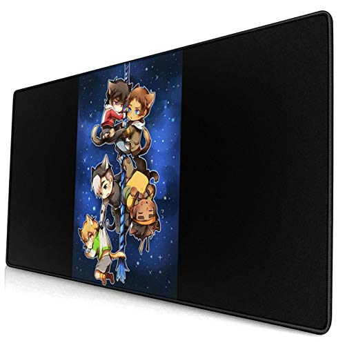 Chibi Voltron Onesie Fashion Large Game Mouse Pad, Non Slip Rubber Base, Office and Home(40x75cm)