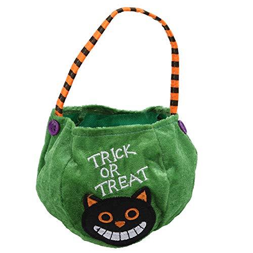 WSJKHY Halloween Halloween-Kürbis-Boo-Süßes Oder Saures Tragbare Süßigkeitstasche Tote Bucket Basket Play B