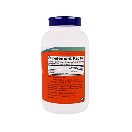 NOW Supplements, Magnesium Oxide, 8-Ounce
