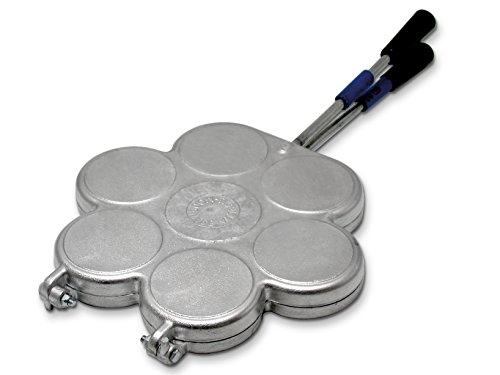HOME 916100 Stampo per Tigelle Utensili da Cucina Casa, Alluminio, Argento