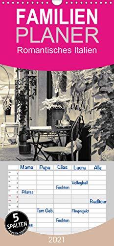 Romantisches Italien - Familienplaner hoch (Wandkalender 2021 , 21 cm x 45 cm, hoch): Italienische Lebensart und Architektur (Monatskalender, 14 Seiten ) (CALVENDO Orte)