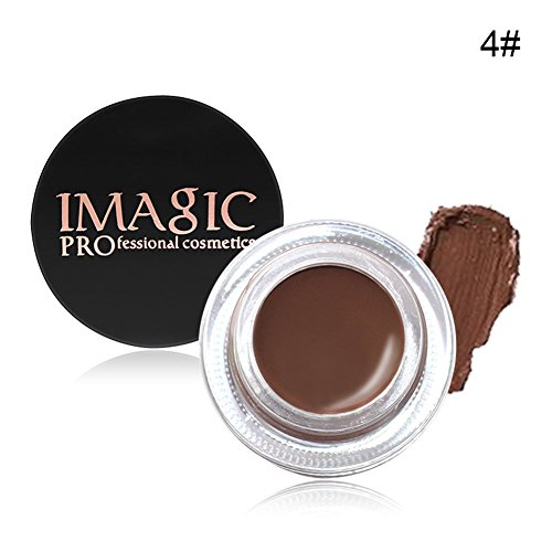 Waterproof Brows Gel, KISSION 6 Couleurs Naturelle Gel a Sourcils Creme Impermeable Teinture pour Sourcils Beaute Maquillage(CHOCOLATE)