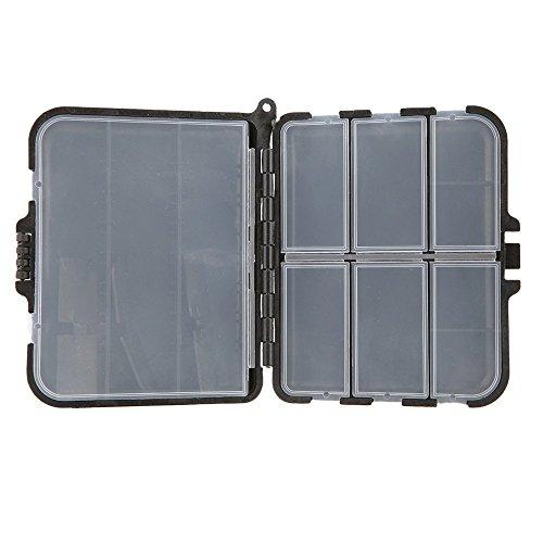 SODIAL(R) Tackle Box boitier Leo Portable Peche leurre Boite cuillere Crochet Boite Crankbait & s'attaquer a boitier Plastique 9 Compartiments de Rangement