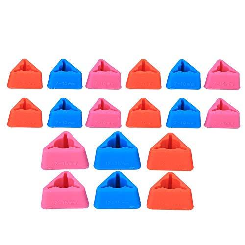 Atyhao Protector de Agujas, Agujas de Tejer Triangulares Puntas de Silicona Antideslizantes Protectores de Puntos de Punto Accesorios de Costura para Agujas Circulares de Tejer Grandes