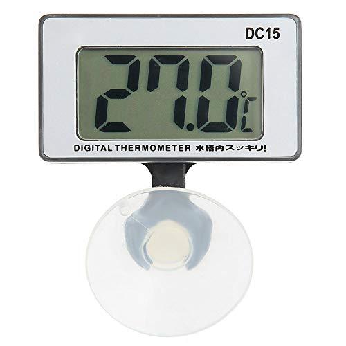 Zerodis Aquarium-Thermometer mit Saugnapf, Aquarium-Wasserthermometer Elektronisches Hygrothermograph-Aquarium-Thermometer für Innen und Außen