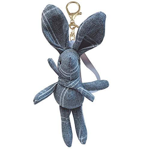 Kreative Schlüsselanhänger Denim Gitter Kaninchen Dame Niedlichen Auto Schlüsselanhänger Tasche Anhänger Wunderschön Dekoriert Kleine Geschenke Einzigartig Schlüsselanhänger Männer Damen Praktischer O