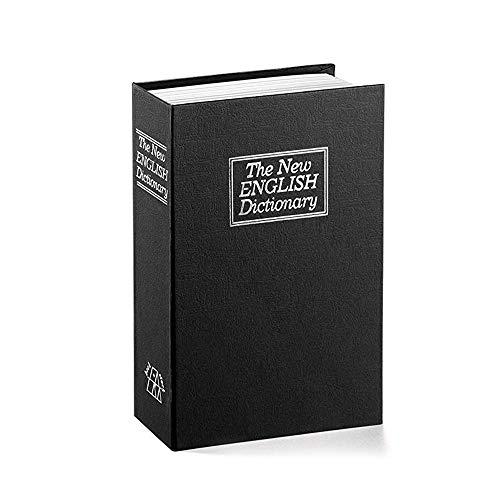 Mousyee Caja Fuerte de Diccionario, Caja de Seguridad en Forma de Libro, Caja Fuerte para Libros de Diversión, Caja de Almacenamiento Pequeña, Adecuada para Cosas Personales (Negro)