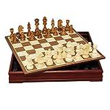 Échecs artisanaux multifonctionnels El ajedrez de Madera Set de ajedrez de Viaje Backgammon Damas Juego de Madera de Madera de ajedrez Jeu d'échecs de jeu d'activité de Voyage en famill