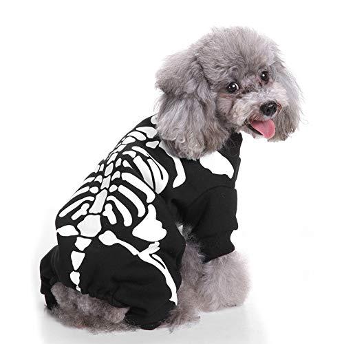 Proumhang Disfraz de Esqueleto de Mascota Disfraz para Perro o Gato Navidad Halloween-L