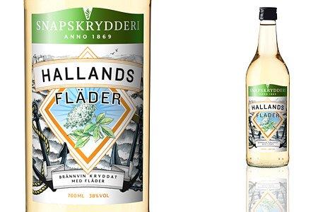 Hallands Fläder - Kräuterbranntwein mit Holunder, 0,7l, 38% Alc