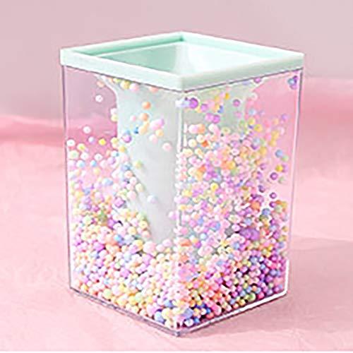 TBoxBo Estuche de almacenamiento de brochas de maquillaje con bola de burbujas de color, organizador de almacenamiento de suministros de escritorio lindo titular de lápiz para niños niña escuela hogar