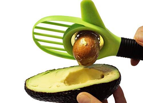 Luvii Avocadoschneider 3 in 1 Avocadoschäler, Avocadoentkerner, Geschenk, Weihnachten, Küchenhelfer, Mango und Avocado Slicer Avocadoslicer schälen, entkernen, schneiden (grün)