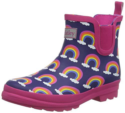 Hatley Mädchen Chelsea Rain Boots Gummistiefel, Blau (Rainbow Arches 400), 27 EU
