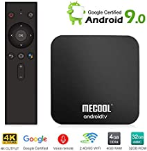 Mecool TV Box KM9Pro Android 9.0 4K TV Box with DDR4/4GB/32GB Storage/Voice Remote/Google Certified Media Player Support 2.4G/5G WiFi and BT4.0 or Above