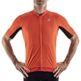 CASTELLI VANTAGGIO Jersey Camiseta, Fiery Red/Black, M para Hombre