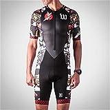 NHGFP QPM Jersey De Triatlón Skinsuit Vestimenta De Ciclismo Salpicaduras Hombre En Bicicleta Conjunto De Cuerpo Juego De Los Deportes De Velocidad MTB Mono (Color : 7,...