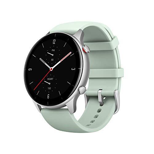 Smartwatch Amazfit GTR 2e com monitor de frequência cardíaca 24H, sono, monitor de estresse e SpO2, relógio esportivo com 90 modos esportivos, bateria com 24 dias de vida útil, verde Matcha