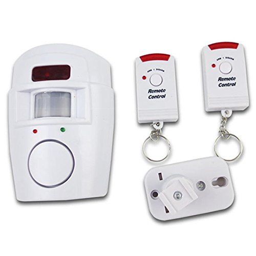 LNIMIKIY - Alarma inalámbrica con sensor de movimiento, detector de movimiento antirrobo, sistema de alarma inalámbrico, fácil de instalar, cobertizo para el hogar,autocaravana, seguridad
