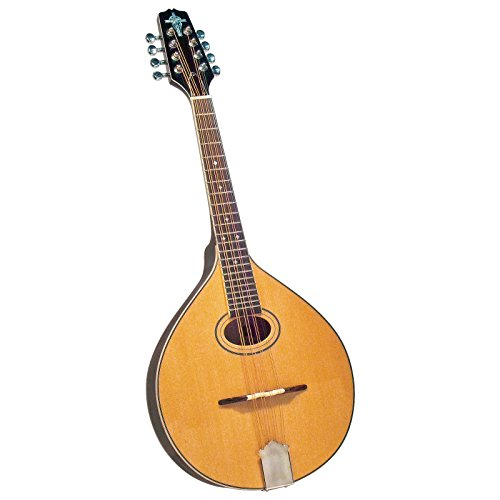 Trinity College TM-325 Standard Celtic Octave Mandolin with Hardshell Case - Natural Top
