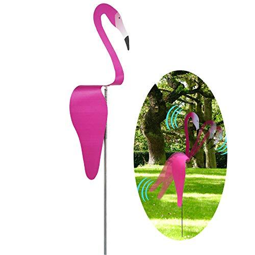 hengtaiwei EIN Wunderlicher und Dynamischer Vogel Flamingo-Windspinner Wirbelvogel der Sich mit der Leichten Gartenbrise Dreht Wind Skulpturen Spinner Für Patio Yard Garden Outdoor Pond Pool Fountain