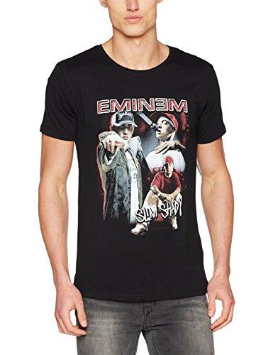 Mister Tee Eminem Slim Shady tee Camiseta, Hombre, Negro, Extra-Large