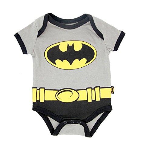 Batman Suit Gray Baby Onesie Romper (3-6 Months)