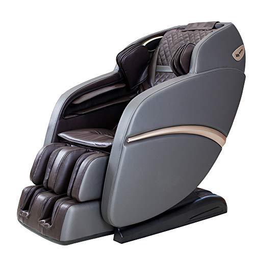 Sofá de masaje Suful-S6, sillón de masaje de acupuntura 3D, relajación de masaje, relajación real, sillón de masaje, multifunción de cuerpo completo, masaje inteligente, sofá de amasado (marrón gris)