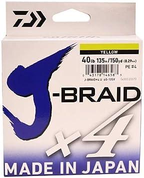 Daiwa J Braid 4X 8X 135M 150M 270M All Sizes Pike Perch Braid