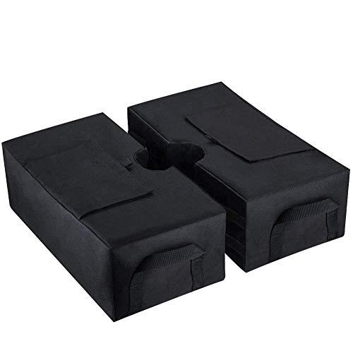 AHGX-Cover Gewichtstasche, Draussen Regenschirm Zelt Belastbarkeit Sandsack, Passend Für Alles Geformt Terrassenschirm, Black,46 * 14.8 * 46Cm