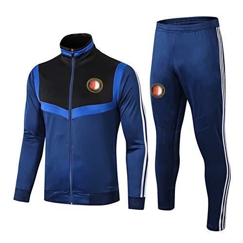 L-YIN Traje entrenamiento de fútbol Club de adulto Camiseta de la Juventud de manga larga y pantalones de jogging BreathableTop QL0108 Traje Chándales (Color : Blue, Size : XL)