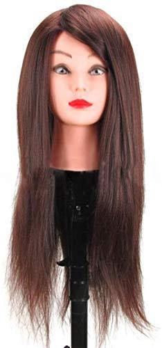 Mannequins de couture reglable Formation Tête Haute température Soie Cheveux tressés Tête à coiffer Modèle Barbershop Coiffure Dummy Head Maquillage Porte vêtement Mannequin