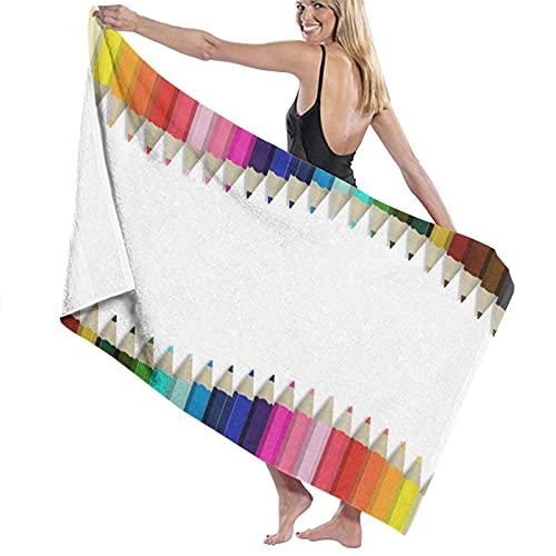 TISAGUER Toalla de baño de Microfibra Set de lápices de Colores Multicolor Suave Absorbente Hoja de baño de para el hogar,los baños,la Piscina Toallas Baño Toalla de Playa