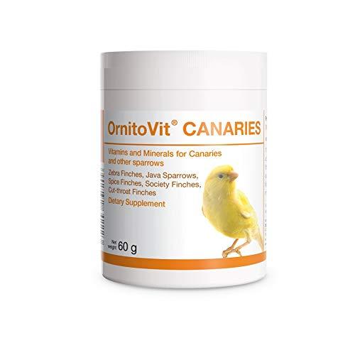 OrnitoVit Canaries Vitaminas Minerales aminoácidos 60 g para Pinzones de Especias Pinzones Gorriones de Java y Canarios