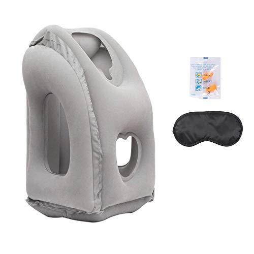 Almohada de viaje portátil, hinchable, para dormir en el avión, en casa, en la oficina, camping