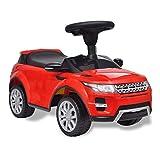 SOULONG Coche eléctrico para niños - Coche de Juguete Rojo con música, Modelo Land Rover 348