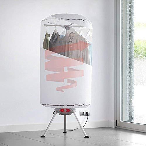 Modezvous – Tendedero eléctrico portátil para ropa con calor soplador – Secador de ropa eléctrico portátil – Secador de ropa 10 kg – 1000 W – Blanco
